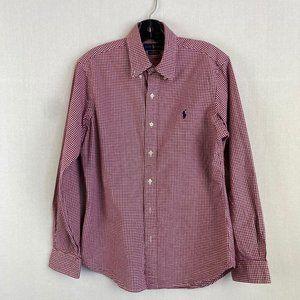 RALPH LAUREN Red Plaid Shirt